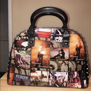 Handbags - Cowgirl Western Style Spike & Studded Tote Handbag